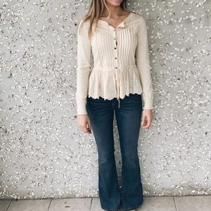 Sweaters - Lacy Cardigan
